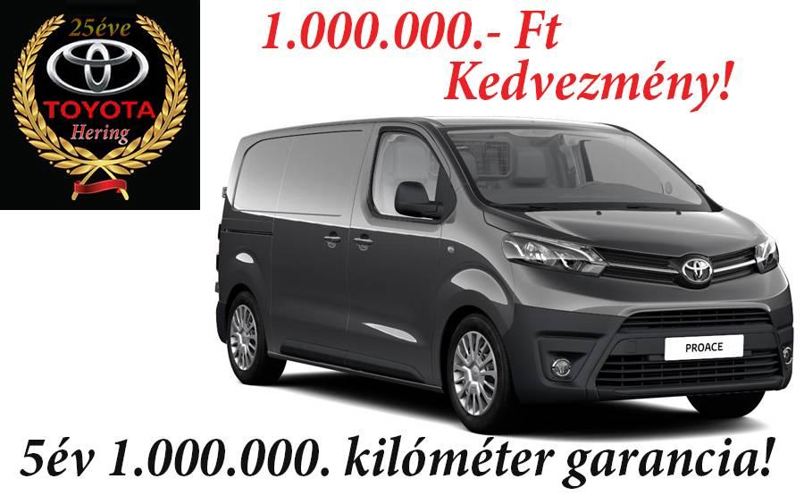 Toyota Proace szalonautó ajánlatok 1 000 000 ft kedvezmény 1000000 kiló méter garancia